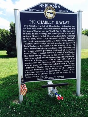 Havlat historical marker